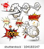 comic book elements   vector... | Shutterstock .eps vector #104183147