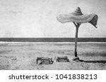 old photo beautiful seashore... | Shutterstock . vector #1041838213