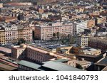 aerial view of the city of rome ... | Shutterstock . vector #1041840793