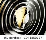 golden verge cryptocurrency... | Shutterstock . vector #1041860137