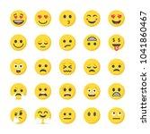 flat icons pack of smileys | Shutterstock .eps vector #1041860467