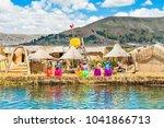 titicaca lake  puno  peru  ... | Shutterstock . vector #1041866713