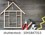 house renovation construction... | Shutterstock . vector #1041867313