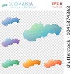 slovakia geometric polygonal ...   Shutterstock .eps vector #1041874363