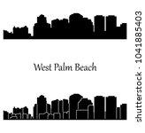 west palm beach  florida  ... | Shutterstock .eps vector #1041885403