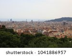 barcelona  spain  view of the... | Shutterstock . vector #1041886957