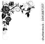 decorative ornament with rose... | Shutterstock .eps vector #1041887257