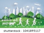 illustration of eco  and... | Shutterstock .eps vector #1041895117