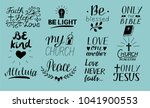 set of 12 hand lettering... | Shutterstock .eps vector #1041900553