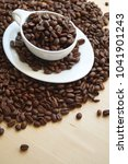 raw coffee  coffee beans   Shutterstock . vector #1041901243