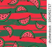seamless pattern with line art... | Shutterstock .eps vector #1041901717