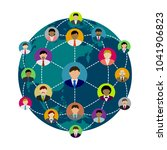people's global communication... | Shutterstock .eps vector #1041906823