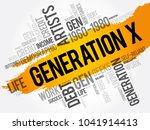 generation x word cloud concept ... | Shutterstock . vector #1041914413