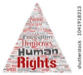 conceptual human rights... | Shutterstock . vector #1041918313