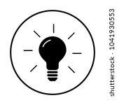 light bulb icon   Shutterstock .eps vector #1041930553