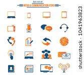 media and communication icons.... | Shutterstock .eps vector #1041963823