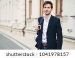 portrait of handsome caucasian... | Shutterstock . vector #1041978157