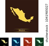 map of mexico | Shutterstock .eps vector #1041985027