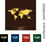 map of world | Shutterstock .eps vector #1041985033