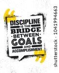 discipline is the bridge...   Shutterstock .eps vector #1041994663
