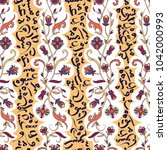 seamless pattern with arabic... | Shutterstock .eps vector #1042000993