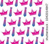 crown and necktie accessory...   Shutterstock .eps vector #1042014847