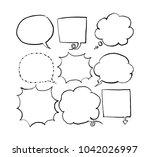 speech bubble collection | Shutterstock .eps vector #1042026997