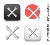 wheel wrench or lug wrench icon.... | Shutterstock .eps vector #1042036597