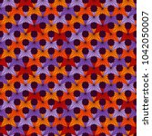 seamless surface pattern with... | Shutterstock .eps vector #1042050007