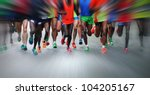 marathon runners   Shutterstock . vector #104205167