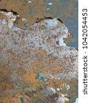 zinc rust closeup  metal rust... | Shutterstock . vector #1042054453