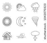 correct prediction icons set.... | Shutterstock .eps vector #1042070323