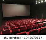 an empty cinema | Shutterstock . vector #1042070887