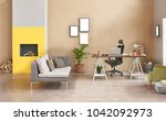 decorative modern freelance... | Shutterstock . vector #1042092973