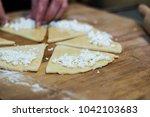 man prepares homemade...   Shutterstock . vector #1042103683