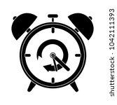 clock alarm flat icon | Shutterstock .eps vector #1042111393