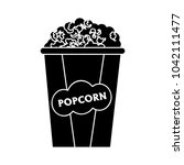 popcorn icon   cinema movie | Shutterstock .eps vector #1042111477