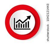 vector growing graph icon | Shutterstock .eps vector #1042121443