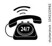 24 7  old phone service  ... | Shutterstock .eps vector #1042133983