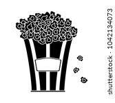 movie popcorn icon | Shutterstock .eps vector #1042134073