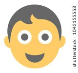 boy with happy expressions... | Shutterstock .eps vector #1042155553