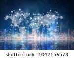 global networking business | Shutterstock . vector #1042156573