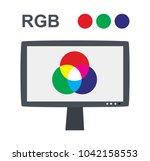 vector rgb concept with lcd...