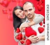 beautiful young couple... | Shutterstock . vector #104218163