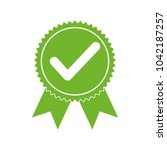 approved certified icon.... | Shutterstock .eps vector #1042187257