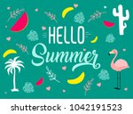 vector image with different... | Shutterstock .eps vector #1042191523