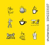 cafe poster   sketchy coffee... | Shutterstock .eps vector #1042223107