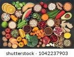 health food concept with fruit  ... | Shutterstock . vector #1042237903