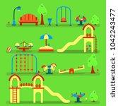 playground equipment set. can... | Shutterstock .eps vector #1042243477