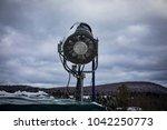 a snowmaker pointed towards a... | Shutterstock . vector #1042250773